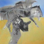 Bikkel - Ride - mixed media on canvas - 40x40cm - 15 03 2020. 21