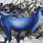 Bikkel - Santorini Donkey and Bikkel 06-10-2019 - acryl on canvas - 100x80cm - 2019 21